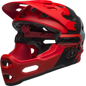 Bell Super 3R MIPS Casque, downdraft matte crimson/black